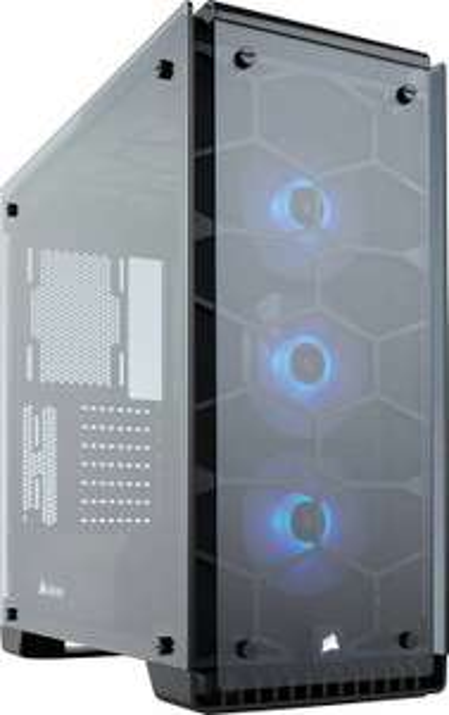 Corsair Crystal 570X RGB PC-Gehäuse (Kompakt Mid-Tower ATX, mit gehärtetem Glas und RGB-Lüftern)