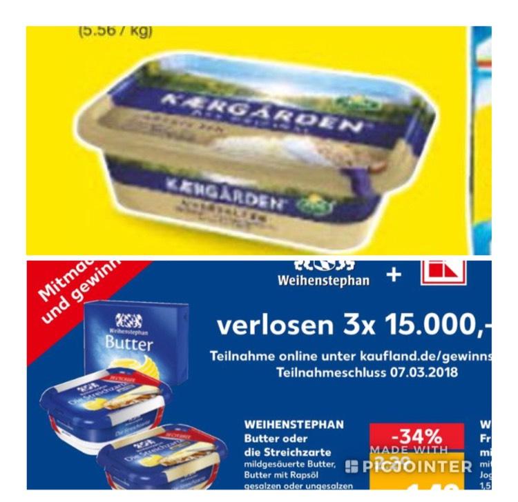 Arla Keargarden & Weihenstephan Butter/ Streichzarte Netto& Kaufland
