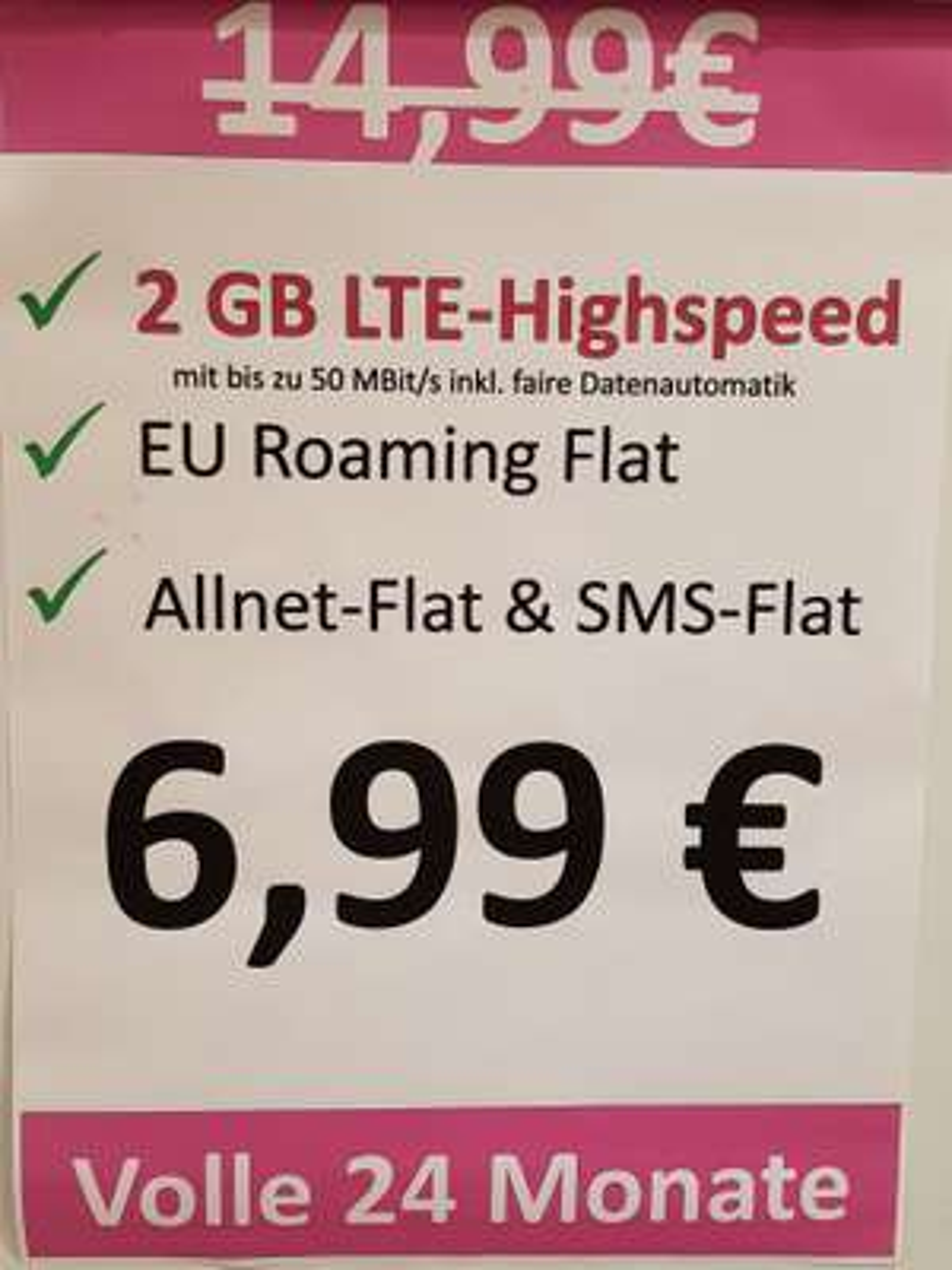 Allnet Flat mit 2 GB Lokal in Frankfurt Hessen Center