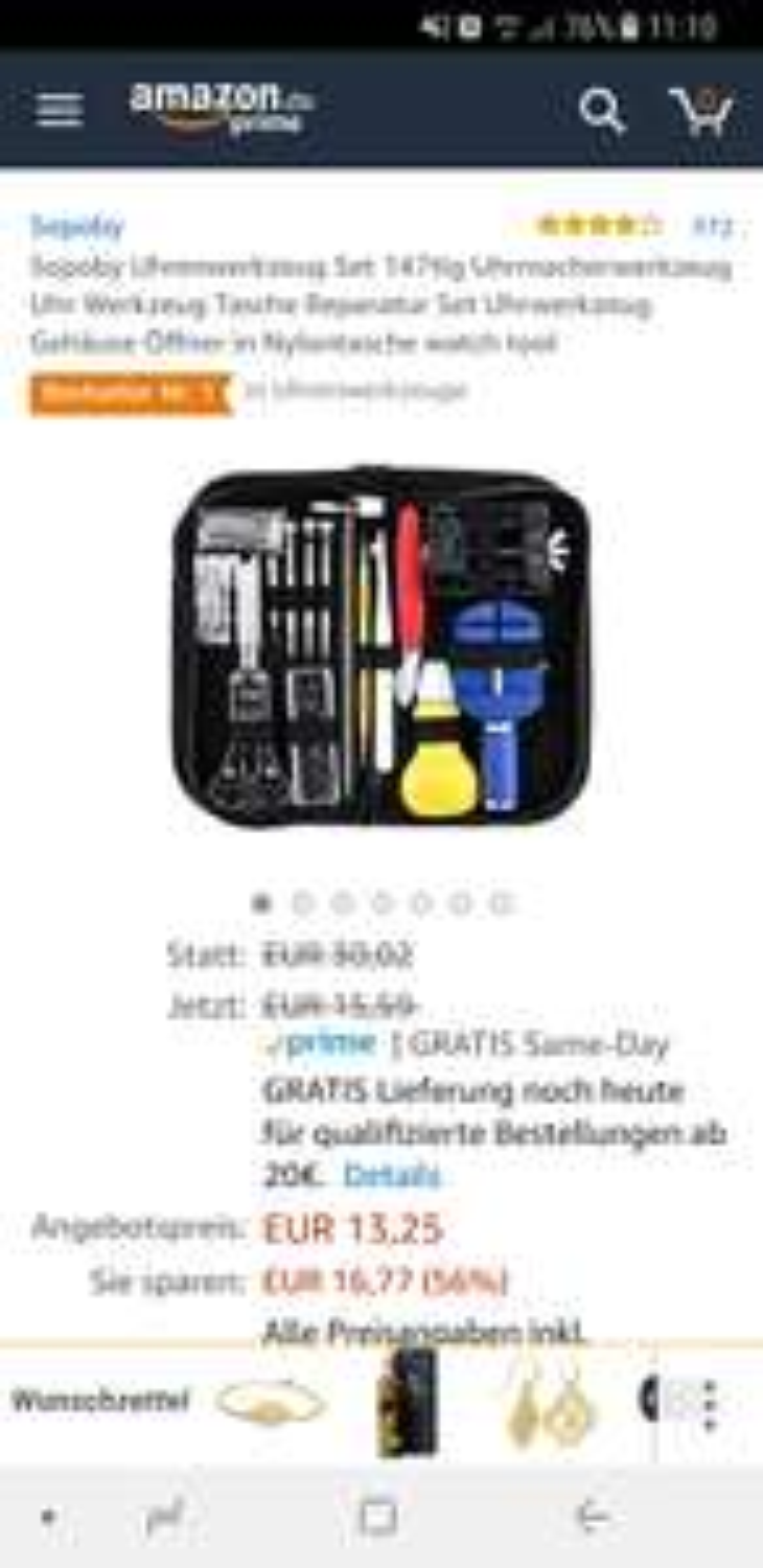 Uhrenwerkzeug - Amazon Blitzangebot