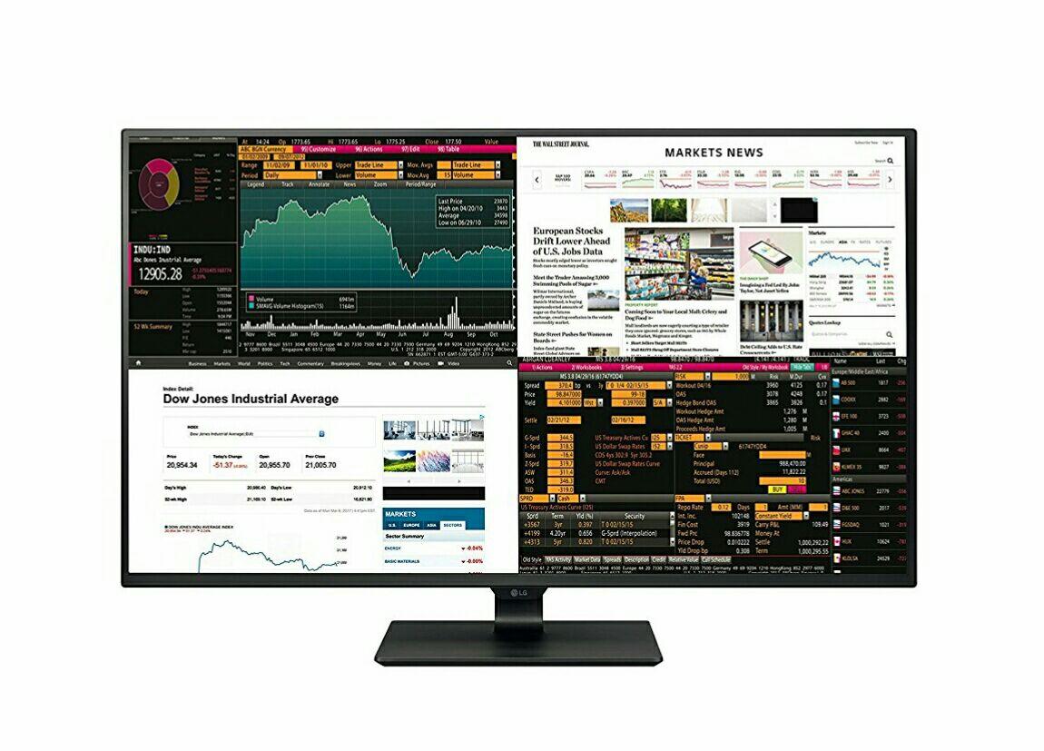 """Monitor PC 43"""" LG 43UD79-B - IPS 4K UHD (3840 x 2160), Action Sync, Screen Split, 4×HDMI, USB-C, Harman Kardon Soundsystem (Amazon.it)"""