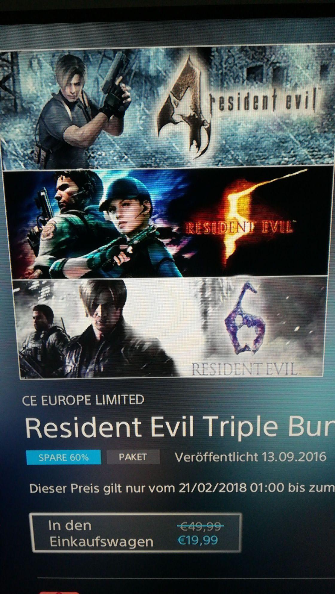 Resident evil Bundle ps4/psn