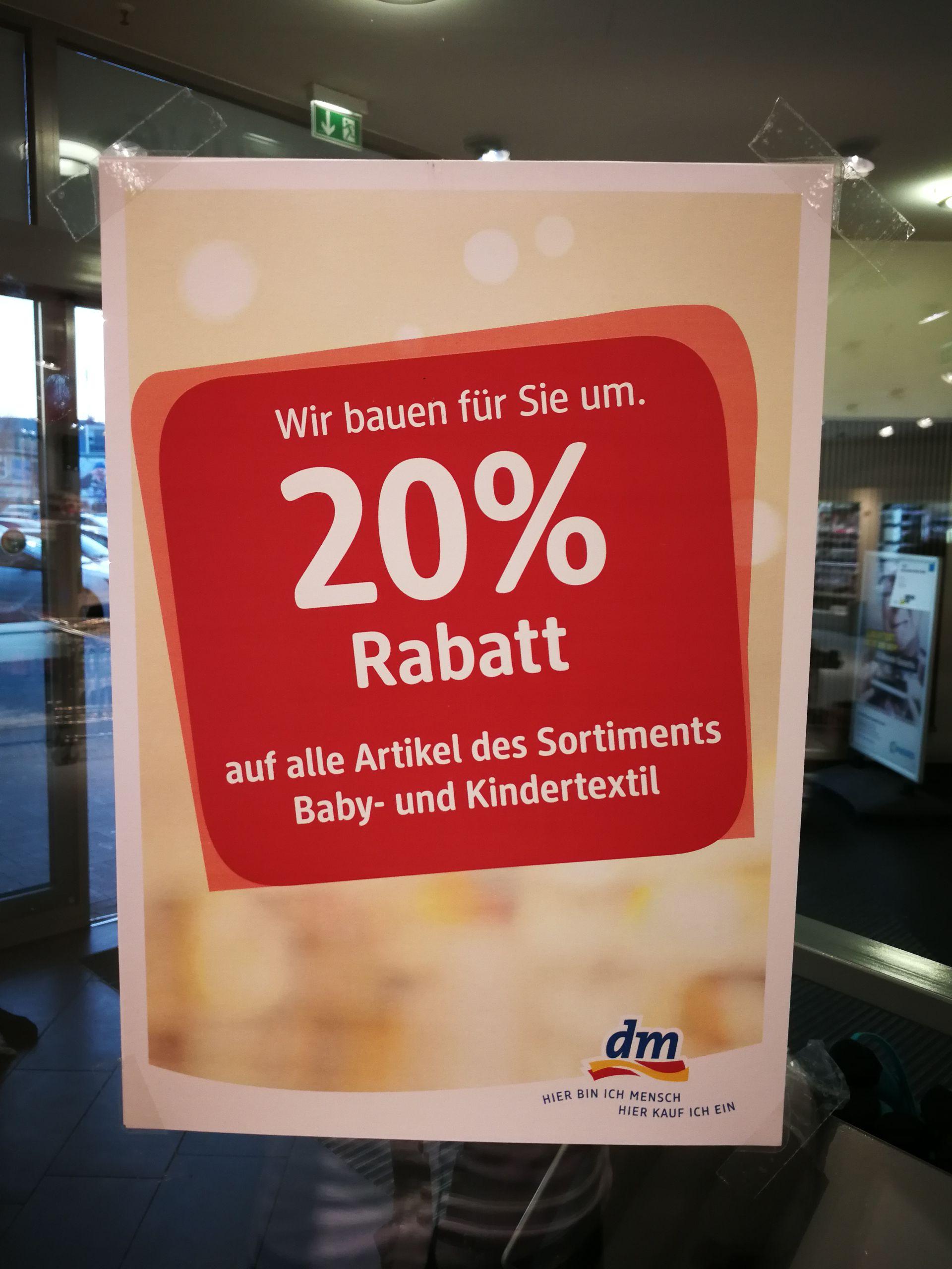dm Bonn Endenich - 20% auf alle Kindertextilien