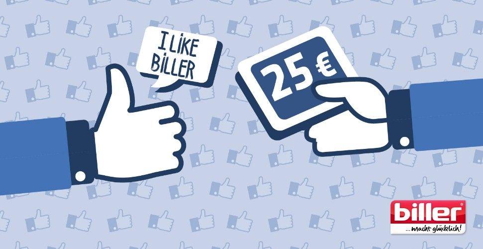 [Möbel Biller] auf Facebook liken, 25€ Ermäßigung (lokal Hof, Plauen,  Moosburg-Nord)