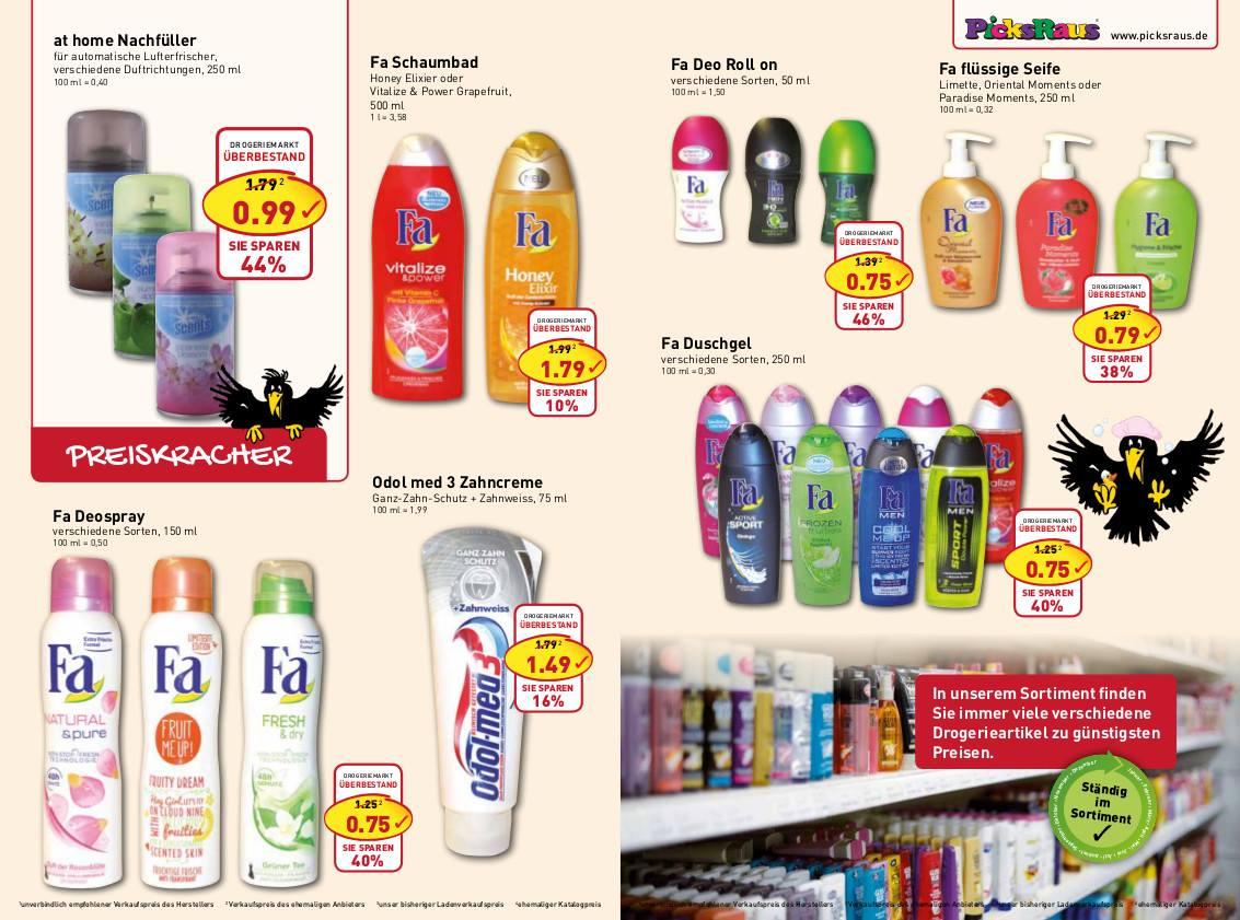Nur Offline: Ab 24.2. verschiedene Fa-Produkte deutlich günstiger, zudem bei at home, Odol med 3, Kleenex und WC-Ente sparen
