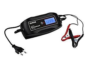 EUFAB, intelligentes Batterieladegerät 6 V / 12 V, 4 A für 15 Euro [Globus Baumarkt]