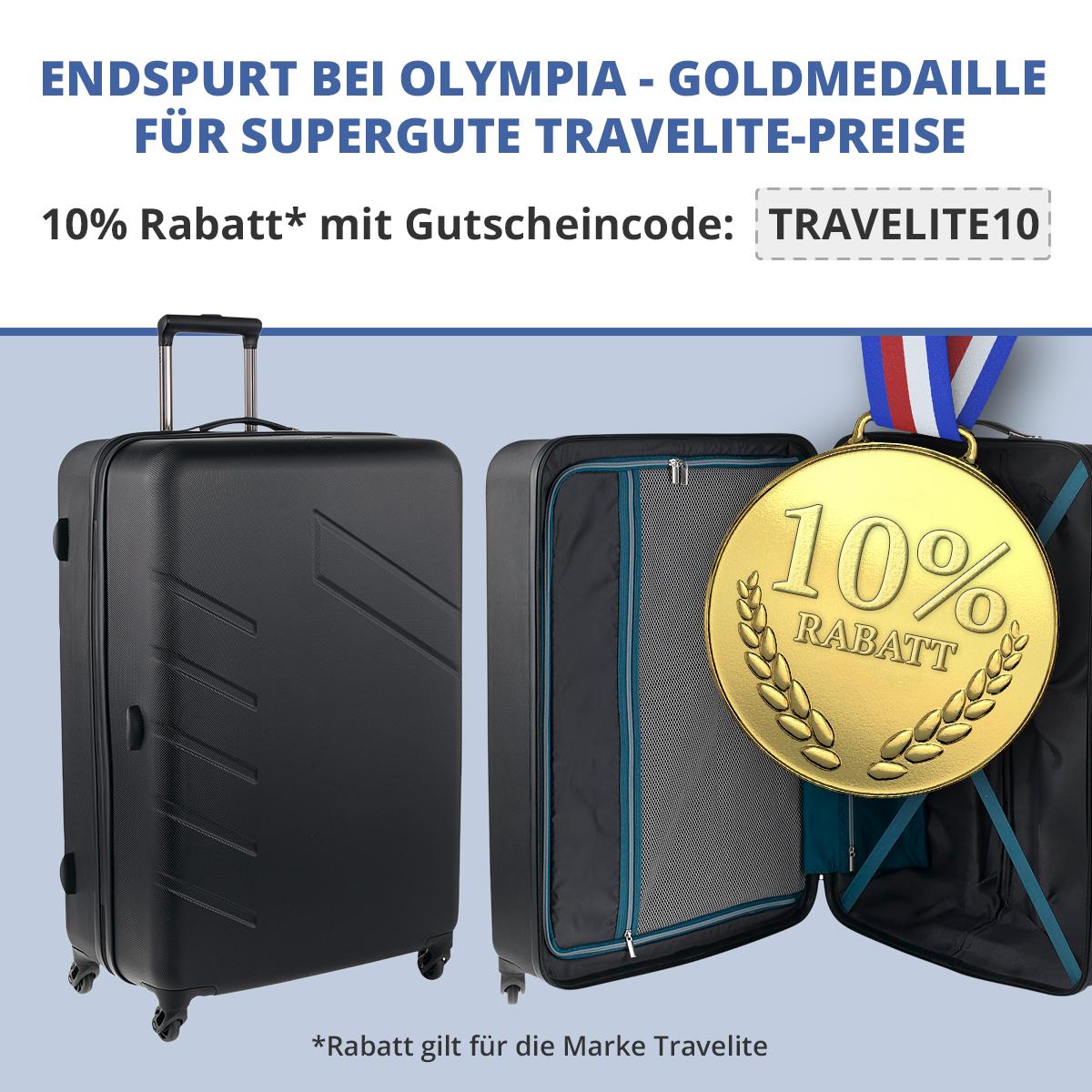 10% Rabatt auf travelite + 5% Vorkasse möglich