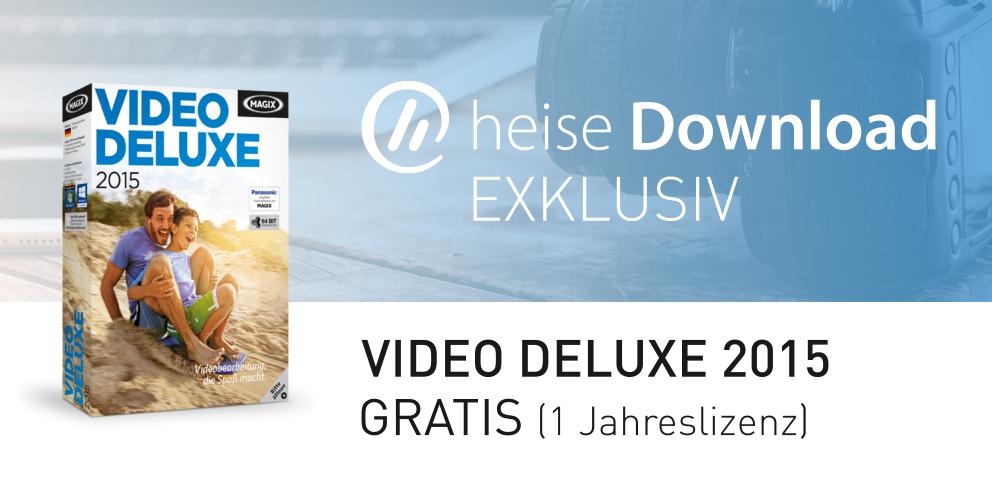 (Heise.de) Video Deluxe 2015 Gratis Jahreslizenz