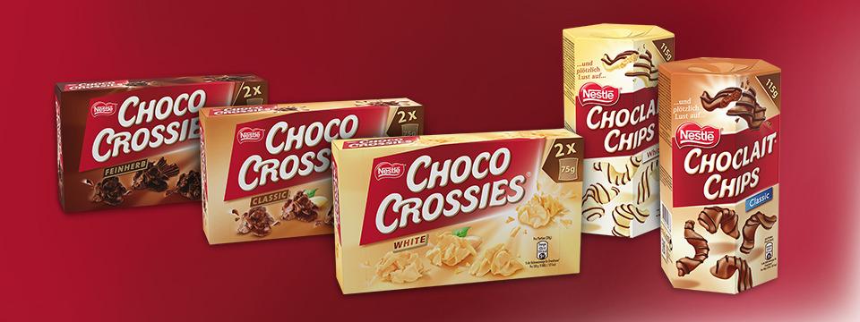 Choco Crossies und Choclait Chips auch white nur 1,49€