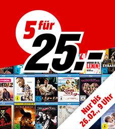 (5 Blu-rays für 25€ versandkostenfrei) z.B Mad Max 4 - Fury Road, Focus, The Accountant, Interstellar, Argo Extended Cut, Gran Torino, Good Fellas uvm.