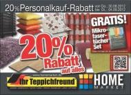 [offline] 20% Rabatt auf alles @Home Market (Ihr Teppichfreund, Teppich Essers)