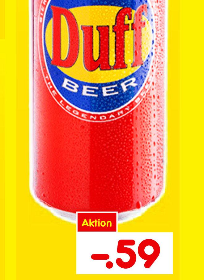 Netto MD, Duff Lager Bier 0,5l für nur 0,59€ ab morgen in den Filialen
