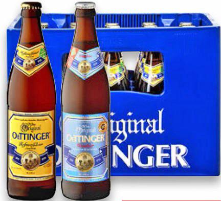 Kaufland Oettinger Hefeweißbier für nur 5,80€ und 5,0 Original für nur 29 Cent !