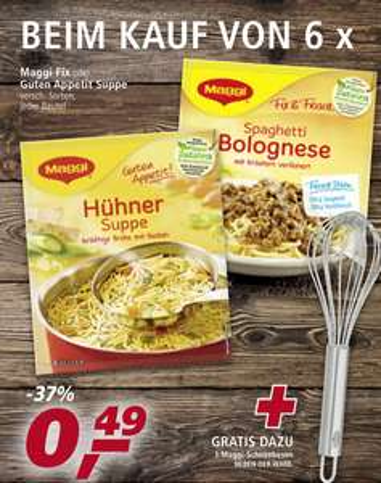 """8x Maggi """"Fix & Frisch"""" für 1,92€ + Gratis Edelstahl Schneebesen bei Real"""