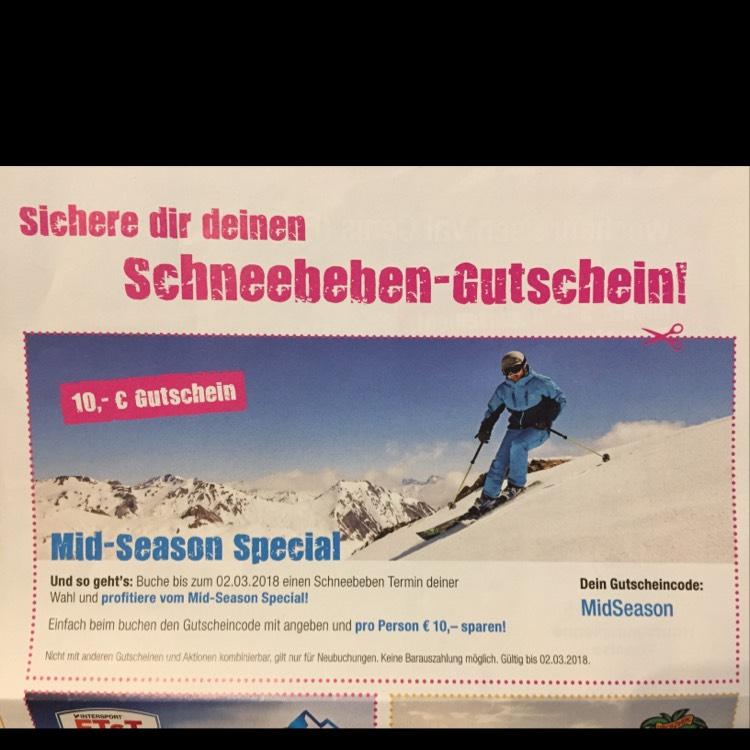 Lösch-Zwerg Schneebeben 10 € Gutschein