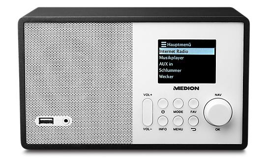 [Medion] MEDION E85040 MD 87540 Wireless LAN Internet Radio UKW-Empfänger DLNA weiß