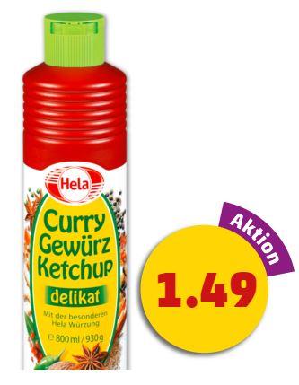 Hela Curry Gewürzketchup 800 ml für 1,49€ bei PENNY oder 860 ml für 1,59€ bei ALDI SÜD