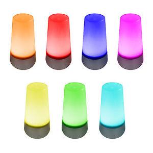 2er Set! LED-Lampe Stimmungslicht Farbwechsel 7 Farben Living Colors Licht EAXUS