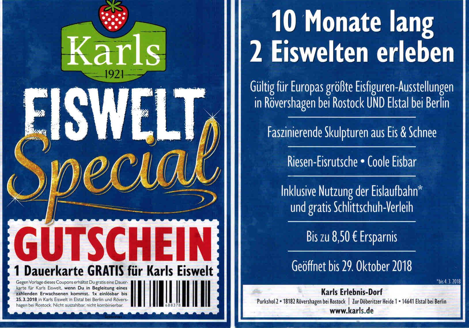 Karls Eiswelt -> 2für1