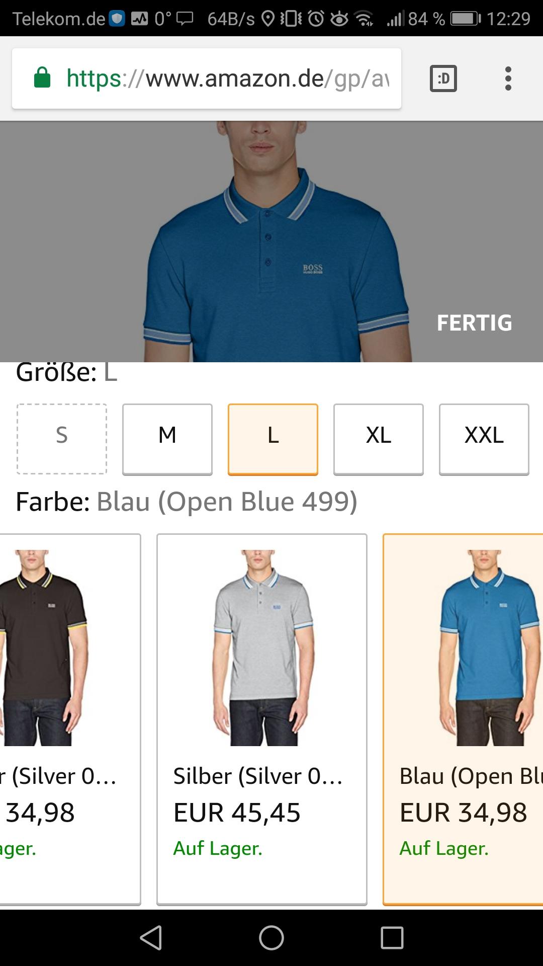 [Amazon.de]  Hugo boss Polos für 34,98€