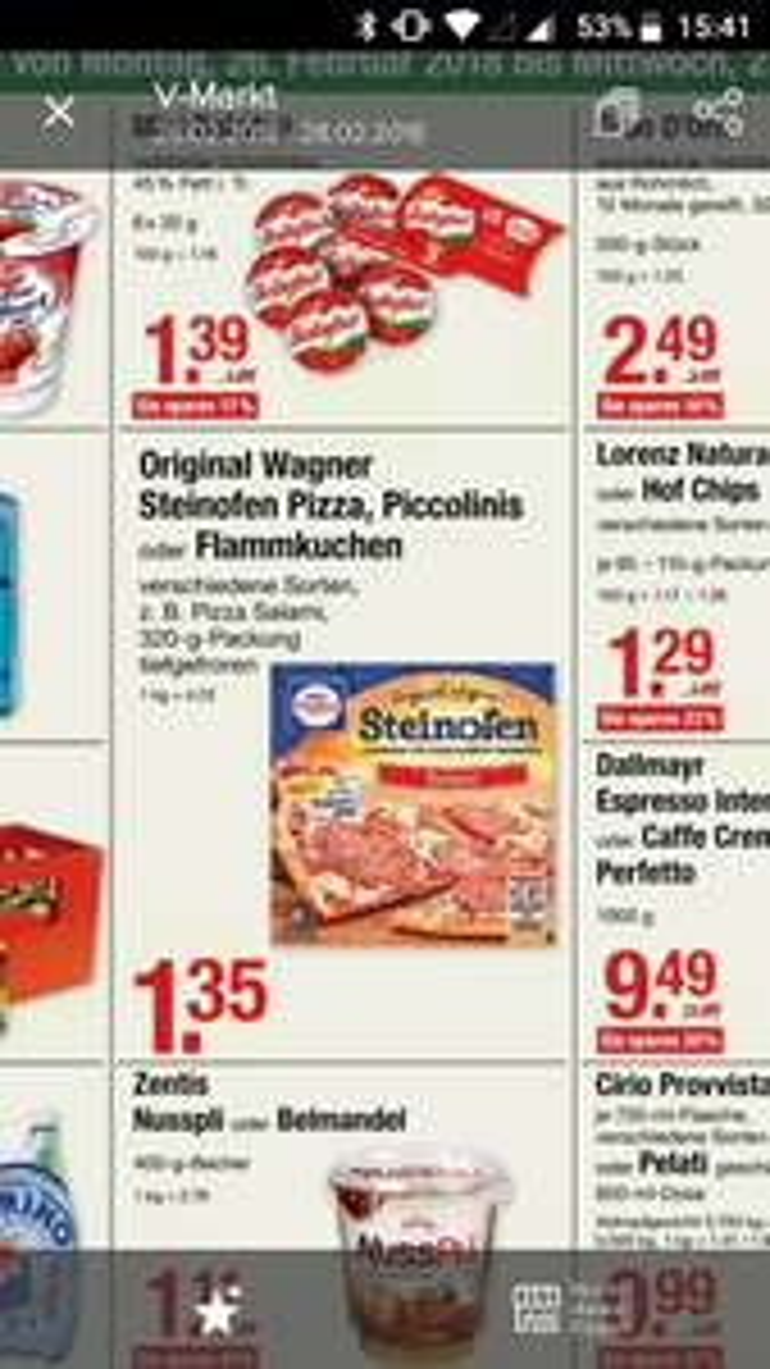 [Lokal München? V-Markt] Wagner Steinofen Pizza