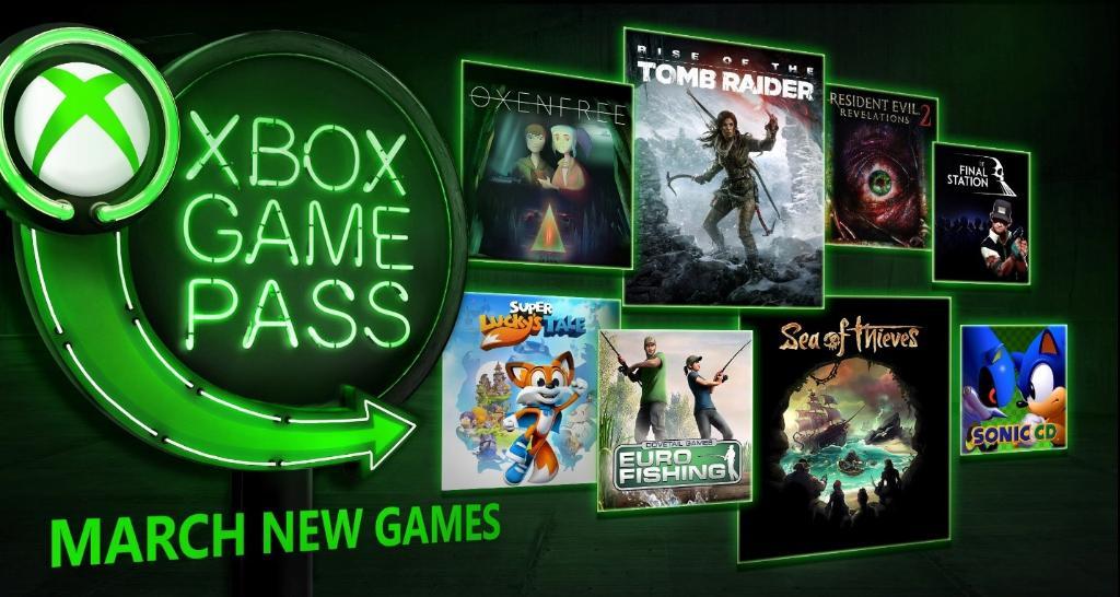 XBOX GAMEPASS Titel für März 2018