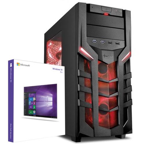 Gaming PC, Ryzen 1400, GTX 1060 (6GB), 120GB SSD, 1TB HDD, 8GB RAM, Corsair NT (550Watt ) und MSI B350 Mainboard [technik-store-24]