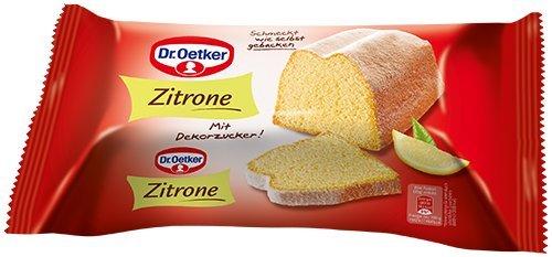 [AMAZON PLUS PRODUKT] SCHNELL SEIN! Dr. Oetker Fertigkuchen Zitronenkuchen, 4er Pack (4 x 350 g)