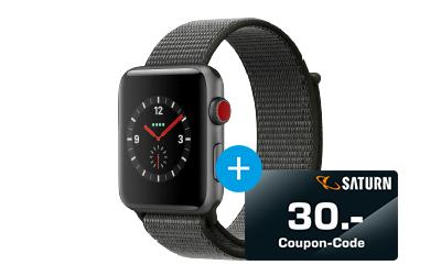 APPLE Watch Series 3 (GPS + Cellular) 42 mm + 30€ Gutschein
