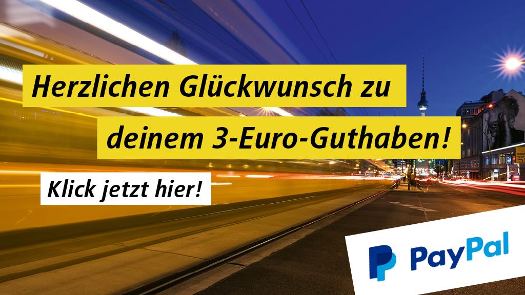 [Lokal] BVG - 3€ Rabatt bei Zahlung per App / PayPal