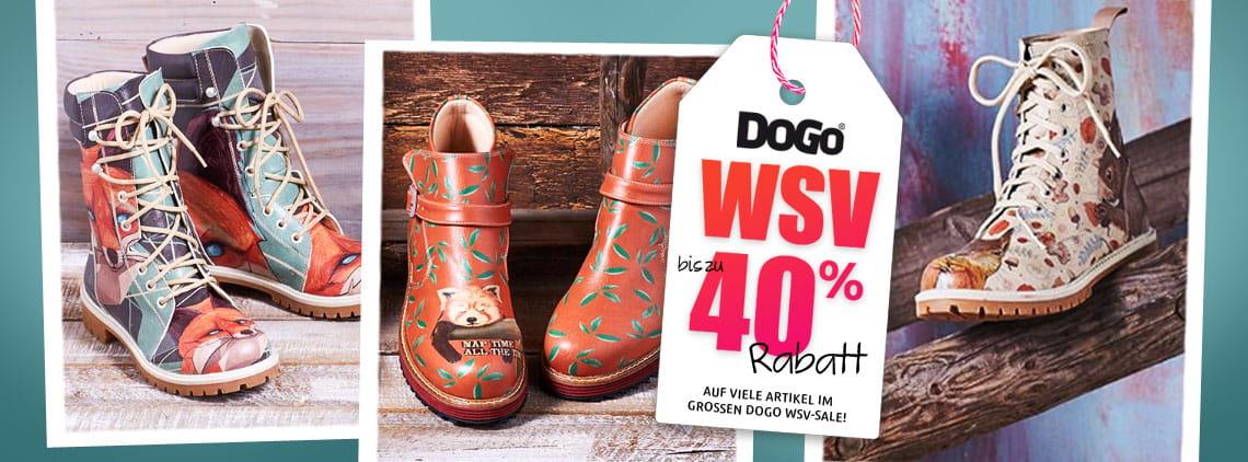 Bis zu 40 % Rabatt im Sale bei DOGO