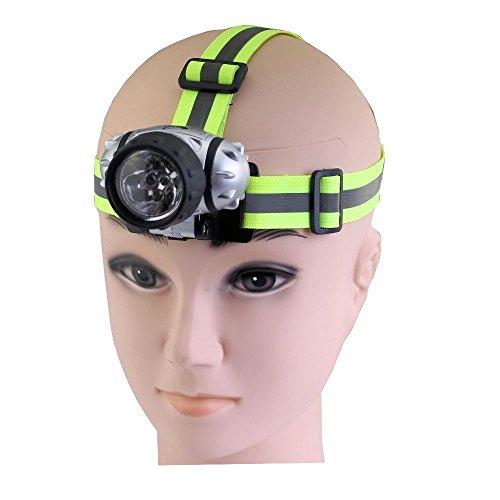 Heitech 04002626 Kopfscheinwerfer mit 10 LEDs silber/schwarz