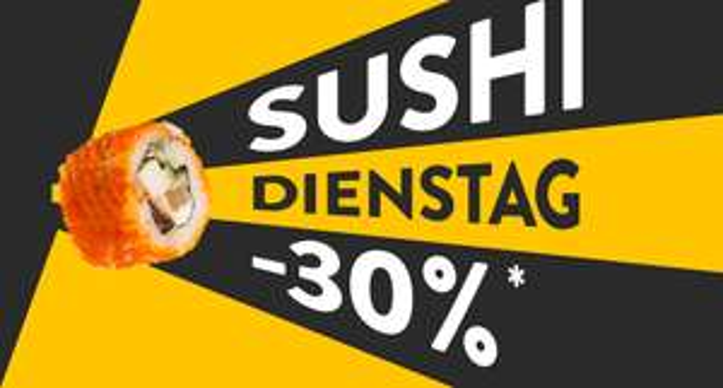 Sushi Dienstag (30%) bei pizza.de