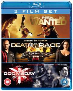 Wanted + Death Race + Doomsday (3x Blu-ray) für 8,15€