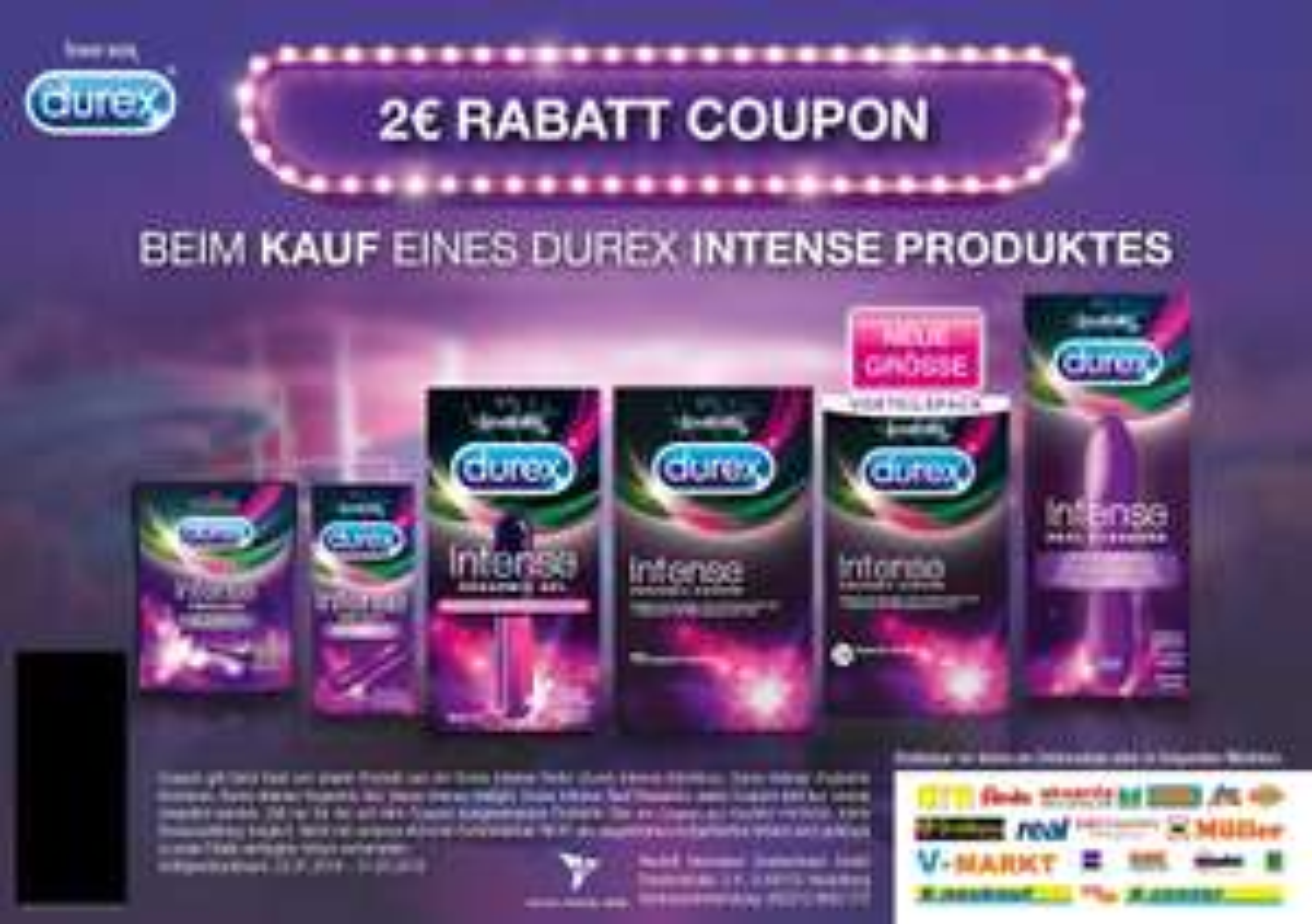 2€ Rabatt auf DUREX INTENSE Produkte #OrgasmsForAll