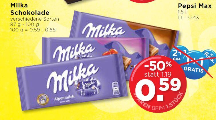 [Grenzgänger AT] Milka - verschiedene Sorten bei Unimarkt für 0,59€