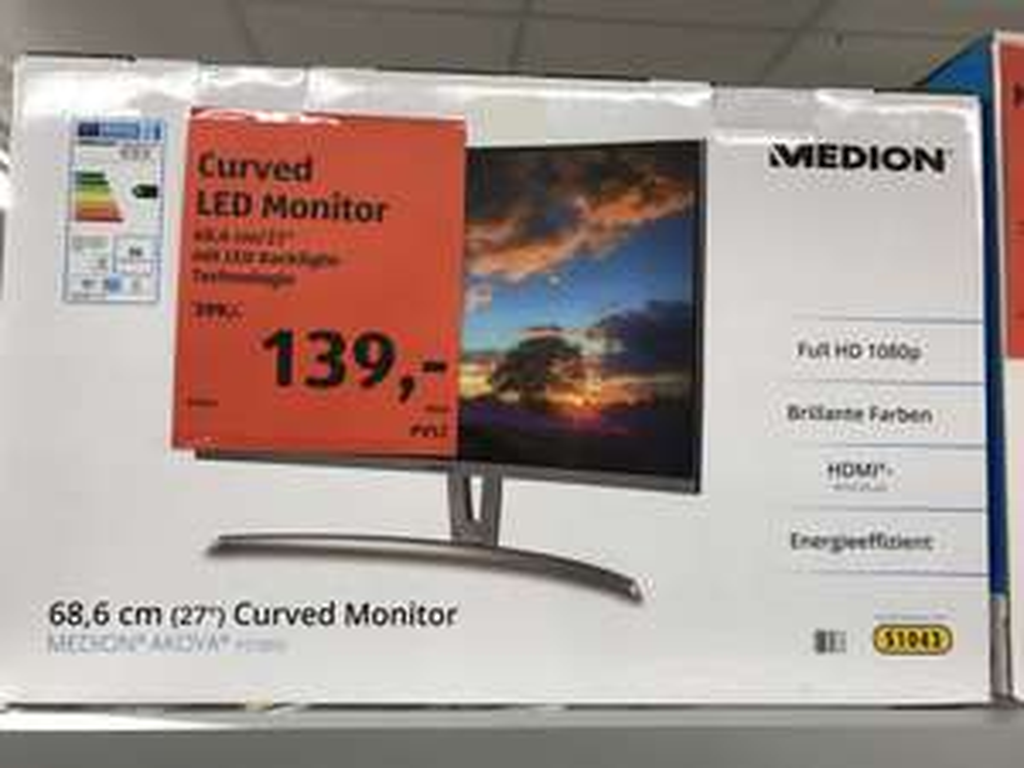 "[Lokal Bonn] Medion AKOYA LED Curved Monitor P57850 27 "" Full HD"