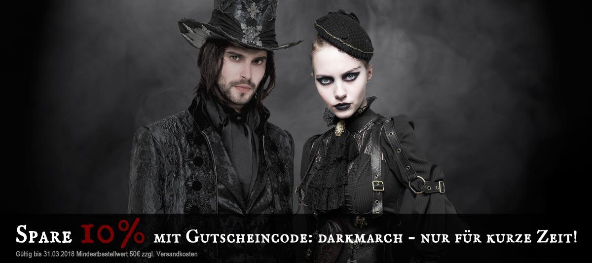 Highlights aus Gothic, Steampunk und Rockabilly günstiger!