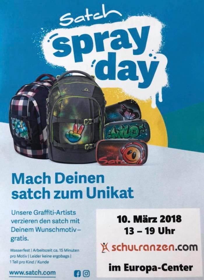 [FREEBIE/LOKAL Berlin etc] Graffiti auf einen Satch Schulranzen am 10.03.19 von 13-19Uhr