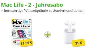 Apple Airpods mit MacLife Abo 94,95