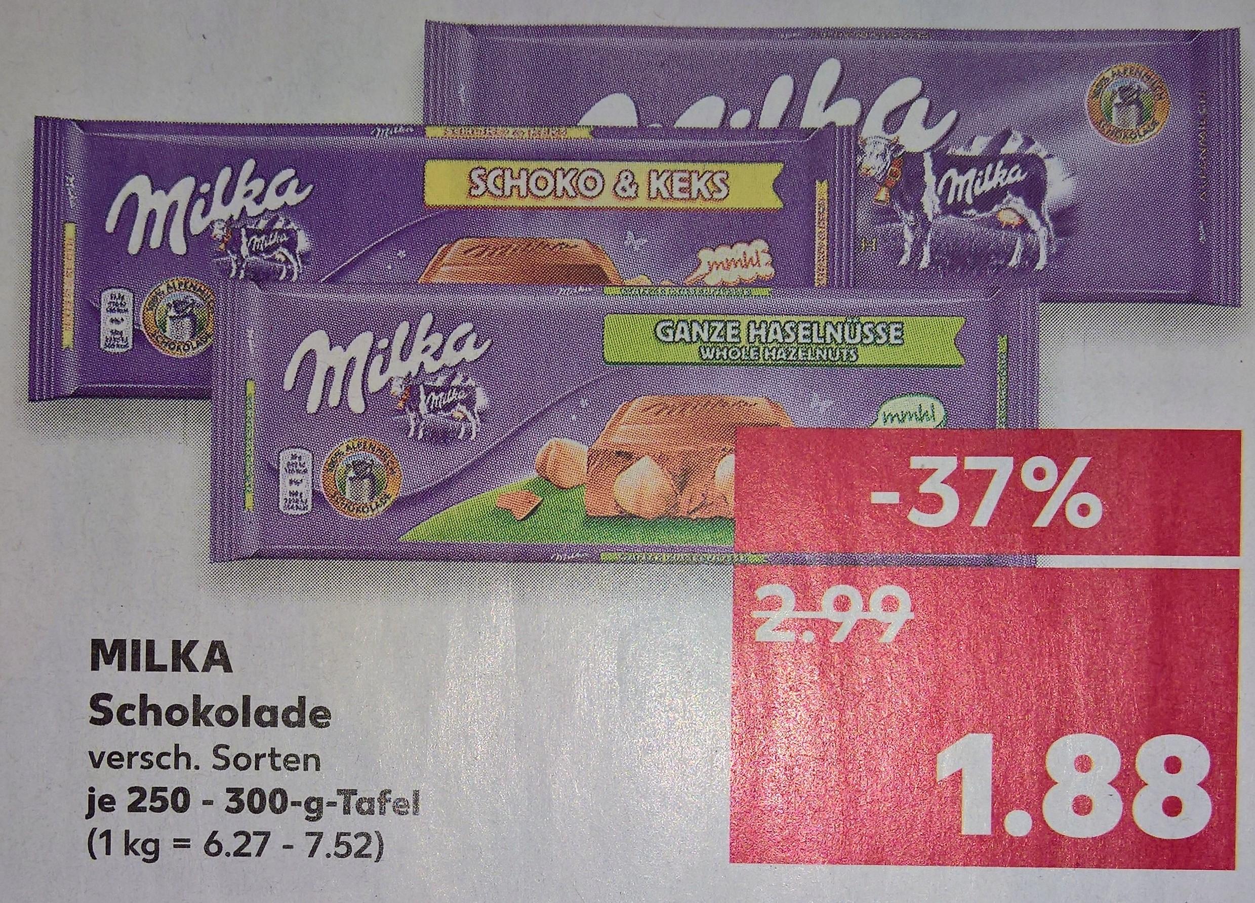 Milka 250 / 300g Tafel @ Kaufland