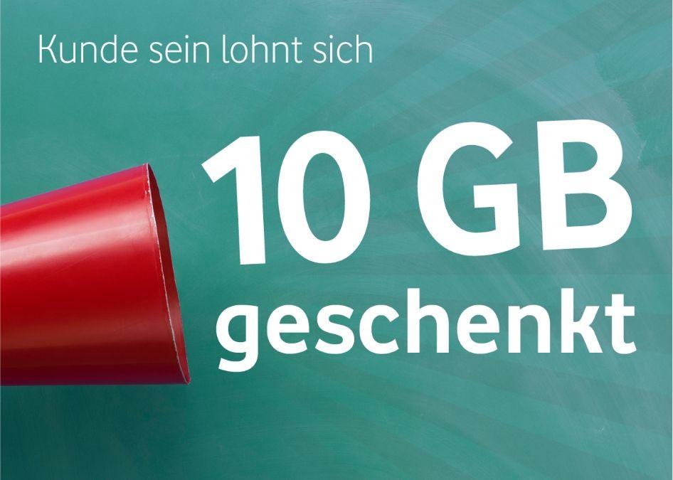 10GB Datenvolumen monatlich geschenkt für Junge Leute bei Vodafone