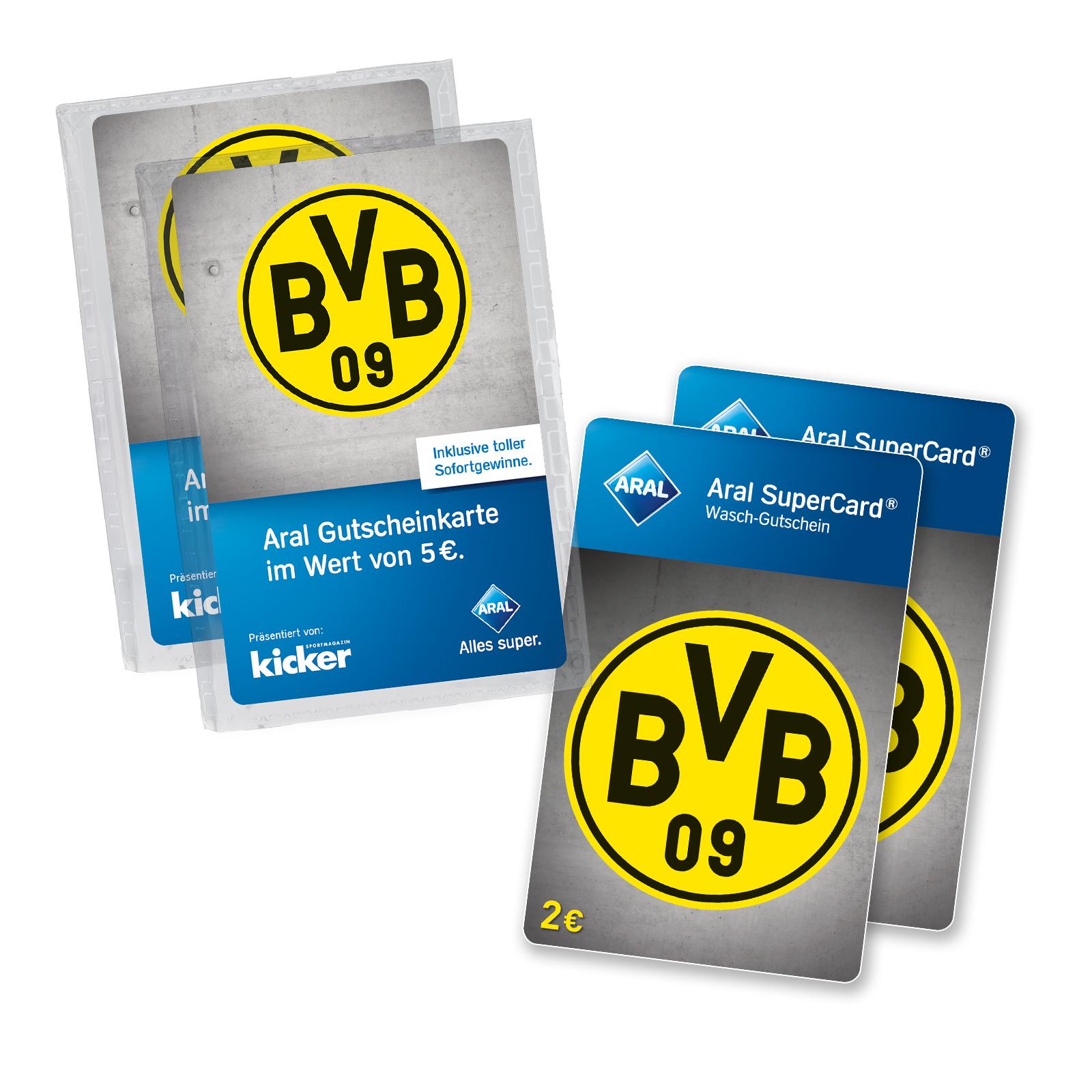 BVB Borussia Dortmund Fanshop 10€ Aral Karten kaufen (können Tank oder Waschkarten sein) 4€ Waschkarten gratis
