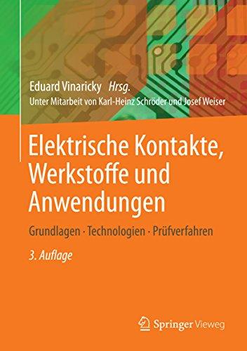 """(Amazon Kindle) kostenloses eBook Fachbuch """"Elektrische Kontakte, Werkstoffe und Anwendungen: Grundlagen, Technologien, Prüfverfahren"""" (Preisfehler?)"""