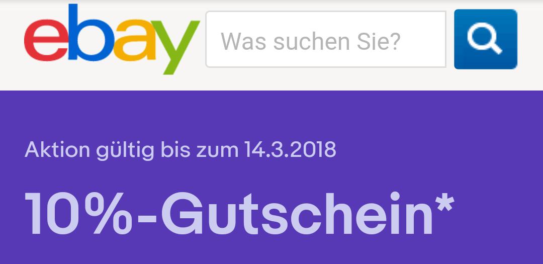 10 Prozent eBay Gutschein auf Technik