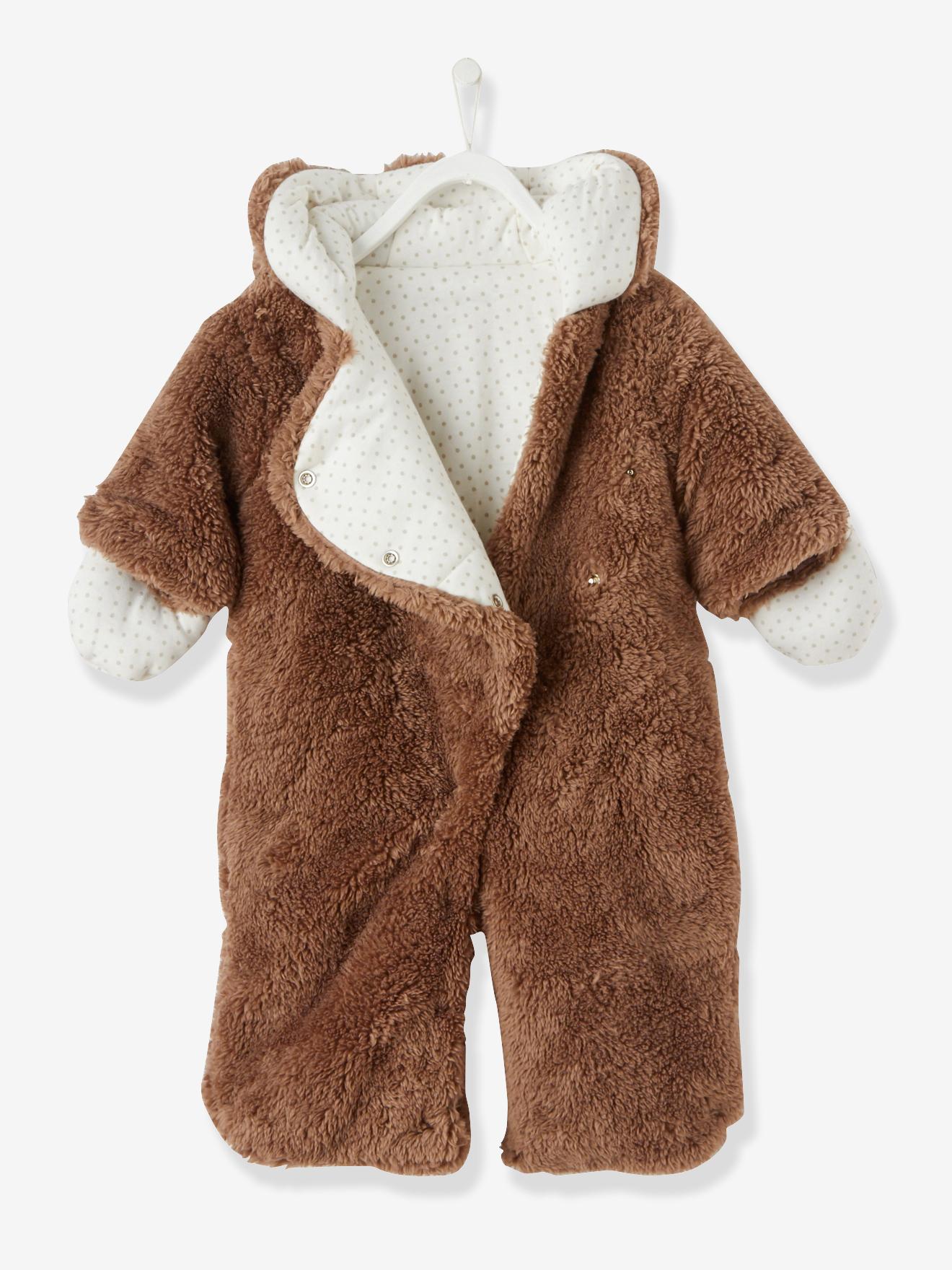 Kuscheliger Teddy Anzug Gr 44 (Frühchen)  bis 80