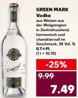 GREEN MARK Vodka - 0,7l Fl. ab 7,49 € @ Kaufland ab 08.03.