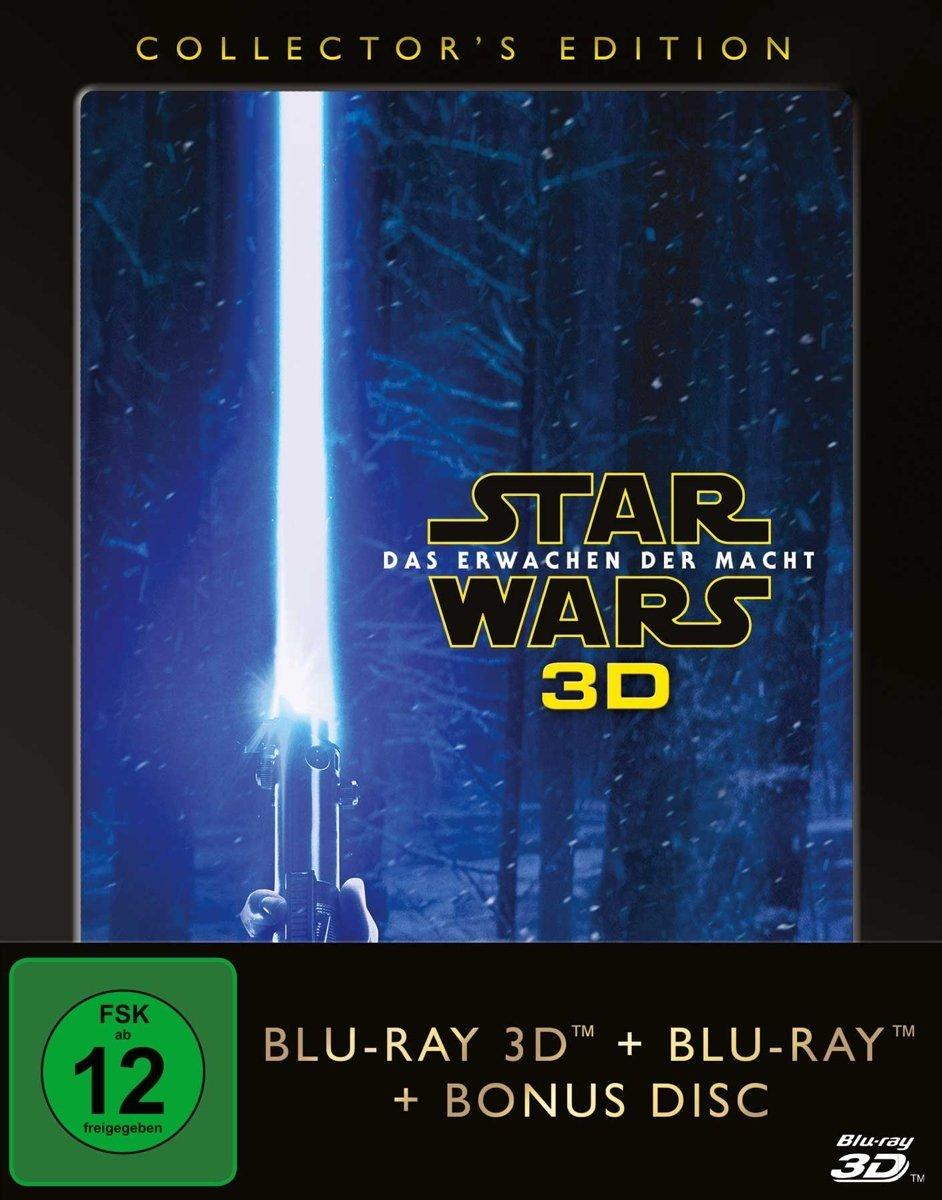 Star Wars - Das Erwachen der Macht Collector's Edition (3D Blu-ray + 2D + Bonus Blu-ray) für 14,99€ (CeDe)