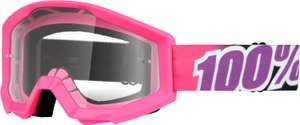 "100% The Strata Goggle (Motocross-Brille) in der Farbe ""bubble gum"" @ Bike-Components"