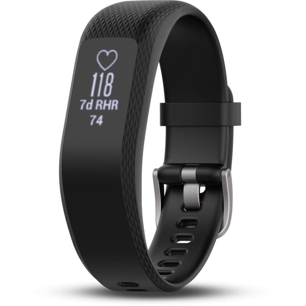 GARMIN Fitness-Armband Vivosmart 3, Schwarz Bandgröße L
